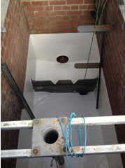 Damp Brick chamber lining - during treatment