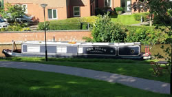 Narrowboat - Silk Dream, Water Tank Lining. Photo curtesy of Nick Taylor.