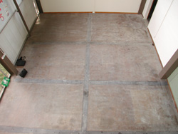 Military Training Room Before Resin Flooring treatment