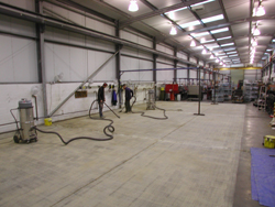 Floor before Resin Flooring Treatment