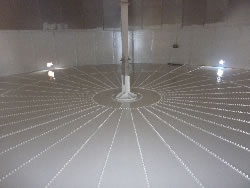 Completed diesel tank floor for Niugini Oil, Lae, Papua New Guinea