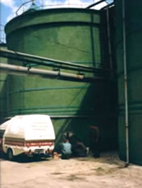 External view of tannery waste water Tanks