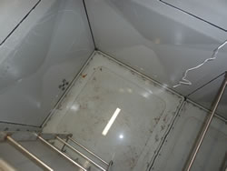 Leaking Fibreglass Panel Water Tank – Before Localised Joint Seal Repairs