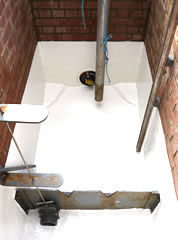 Damp Brick chamber lining - after treatment