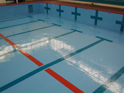 Swimming Pool after epoxy resin lining works