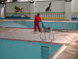 Pool before Epoxy Coating Works