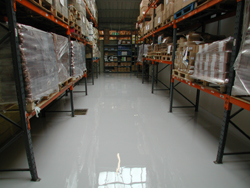 Warehouse After Self Smoothing Resin Flooring Treatment