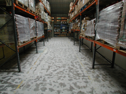 Warehouse Before Self Smoothing Resin Flooring Treatment