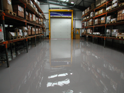 Warehouse After Self Smoothin Resin Flooring Treatment