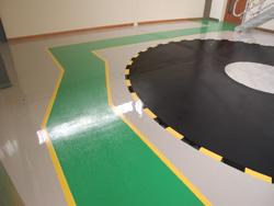 Military Training Room Resin Floor Detail