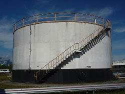 Bulk fuel storage tank to be lined.