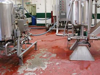 Floor before Resin Flooring Treatment