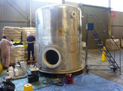 Refurbishment of stainless steel chemical process tank