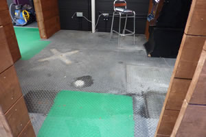 Smoking Area Floor - Before Treatment